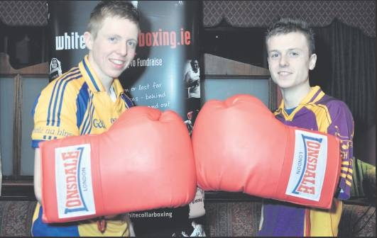 Kevin Mulcahy and Aidan Moloney squaring up on the launch night.